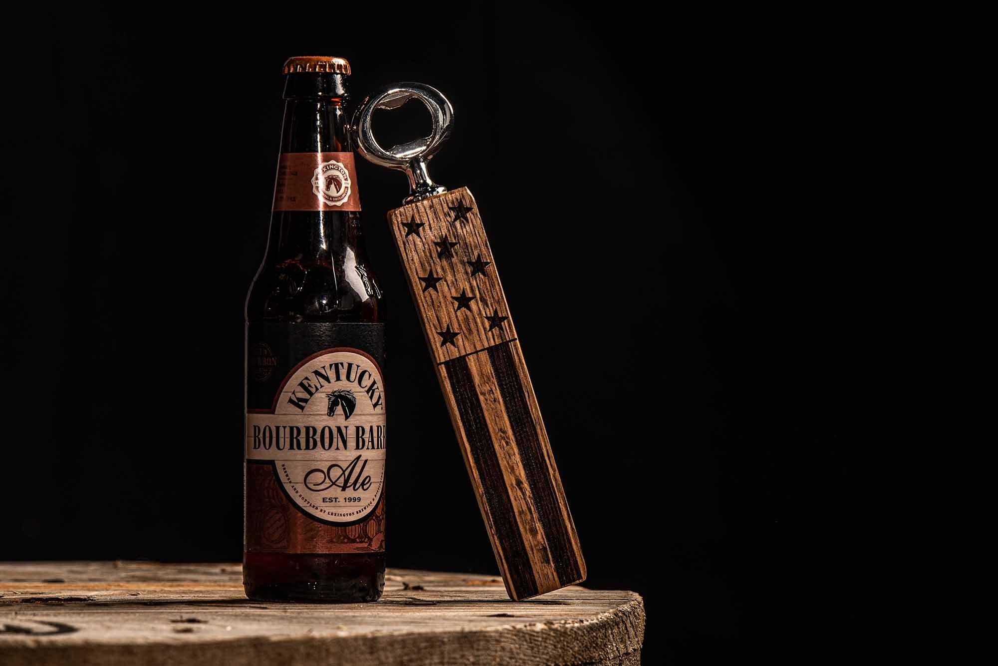 The Freedom Bourbon Barrel Bottle Opener