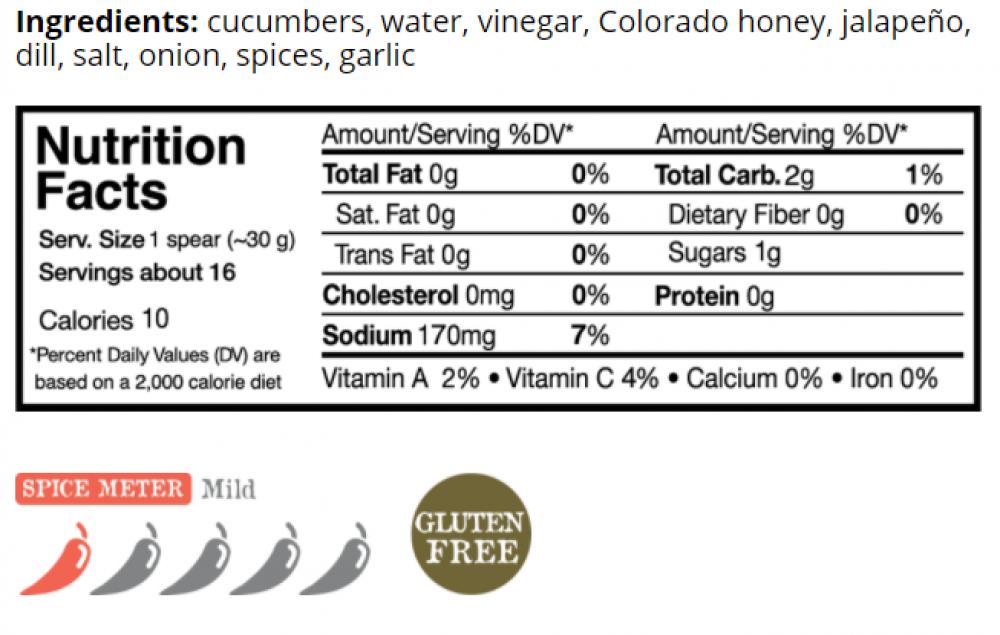 jalepeno honey nutrition